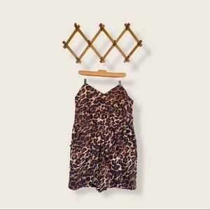 🍋 Strapless Leopard Animal Print Cheetah DRESS